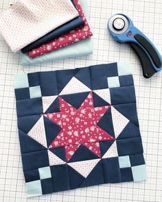 A Podcast Interview + Block #7 from the RBD Quilt Block Challenge | Diary of a Quilter - a quilt blog