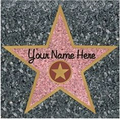 Class Walk of Fame - star for each student on the ground where they line up