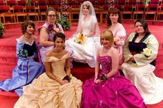 Disney Princess Bridesmaids! Hannah- PLEASE let us do this at your wedding. And I want to make the face of the bridesmaid to the direct right of the bride. :)