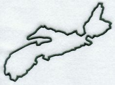 Nova-Scotia Province Outline Tattoo    -People think its kinda silly but i love it!