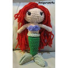 Ariel Disney Little Mermaid Handmade Amigurumi Crochet Doll by Amigurumi4u, via Flickr