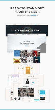 Lumino - Responsive Multi-Functional Theme • Download theme ➝…