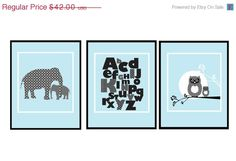 Set of 3 Prints Black And White  11 X 14 Inches by UrbanTickle, $35.70