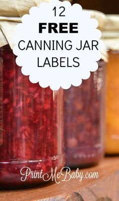 Canning season is upon us, so we've rounded up the best free canning jar labels you can print for free! Grab your mason jars, your preserves, and enjoy! Canning Jar Labels, Canning Recipes, Printable Labels, Free Printable, Food Hacks, Food Tips, Food Trends, Cooking With Kids, Printing Labels