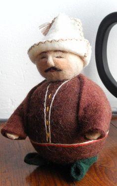 "Handmade Felt Doll "" Kyrgyz Man""_#Globein"
