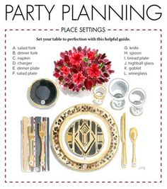 Dinner party table setting guide