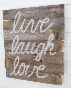 LIVE Laugh LOVE Wood WALL Decor By JennyElkinsHandmade On Etsy, $28.00