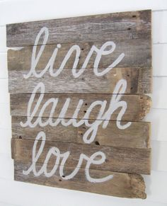 LIVE laugh LOVE wood WALL decor by JennyElkinsHandmade on Etsy, $28.00