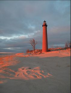 Little Sable at sunset Photo by Pure #Michigan on Flickr
