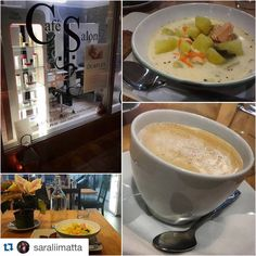 Cafe Salon break time, food, coffee and good company!