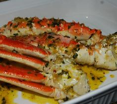 Oven roast crabs.Delicious and easy to cook crab legs cooked in Flavor Wave Turbo Grill.