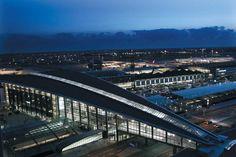 Copenhagen Airport by night