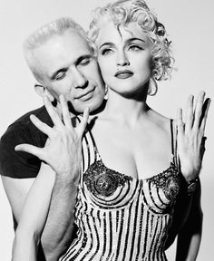 Madonna and Jean Paul Gaultier / Photographed by Herb Ritts / 1990
