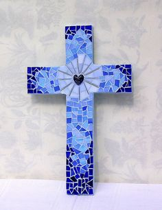 Mosaic Cross - this would be pretty to try with burleigh blue calico and pale blue calico