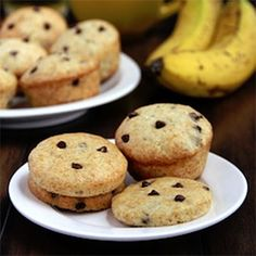 Banana Chocolate Chip Muffins (or Muffin Tops)