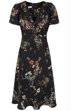 30s Dragonfly Print Tea Dress by Suzannah