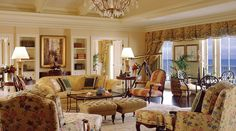 Kiawah Island Golf Resort/The Sanctuary Hotel, Charleston, SC -The Presidential Suite boasts 3,000 square feet, including a vaulted beam ceiling, living room fireplace, a grand oceanfront balcony and private concierge service.