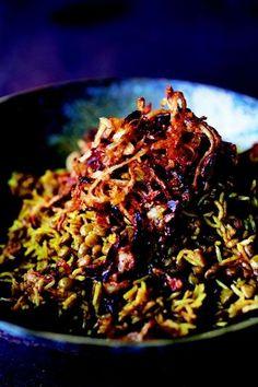 Mujadara (Middle Eastern Lentils and Rice) For vegans: swap in vegan plain yogurt or vegan sour cream for the dairy