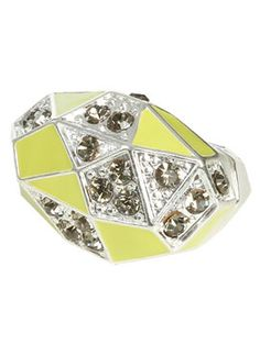 Geometric Cocktail Ring- HAVE IT!