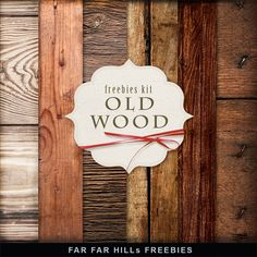 Far Far Hill - Free database of digital illustrations and papers: New Freebies Kit of Backgrounds - Old Wood