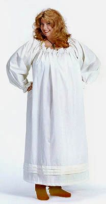 Full-Length Drawstring Chemise ~ Great for under many of the court dresses and peasant one of course. LD.