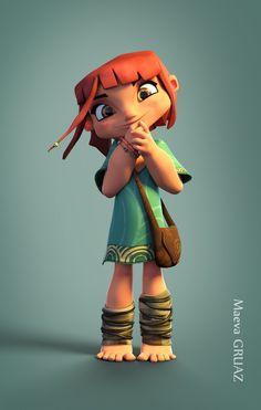 Young Tia, Maeva Gruaz on ArtStation at… Character Design Cartoon, 3d Model Character, Character Design Animation, Character Modeling, Comic Character, Character Concept, Main Character, 3d Modeling, Character Ideas