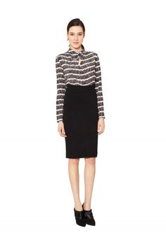 DENSE KNIT PENCIL SKIRT from RAOUL