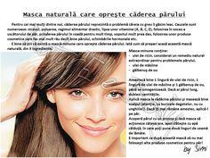 Mască naturală care oprește căderea părului Hair Masque, Natural Health, Health And Wellness, Hair Beauty, Diy, Instagram, Ideas, Health Fitness, Bricolage