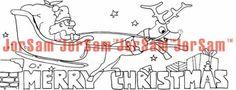 Christmas Santa colouring-in design