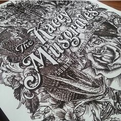 Super intricate work by @catharsisprintco #Designspiration #lettering #illustration #creative - View more on http://ift.tt/1LVCgmr