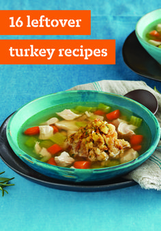 16 Leftover Turkey Recipes – Let the Thanksgiving turkey continue its winning streak in these amazing recipes for hot and cold sandwiches, soups, salads, and more! Let these savory dishes inspire your kitchen creativity at dinnertime.