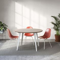 A modern dining table with all-natural linoleum, real birch ply, and powder-coated steel legs. No-tool-required assembly and fast shipping. Dining Table Design, Table Seating, Modern Dining Table, Small Dining, Round Dining Table, Dining Chairs, Dining Nook, Modern Chairs, Minimalist Dining Room