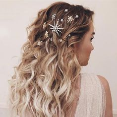 Sparkly Accessories | Whether it's a party on New Year's Eve or a girls' night two months later, every occasion could use a sparkly barrette or pin. It instantly takes any look from ordinary to fabulous. #winter #hair #trends #2019 #southernliving
