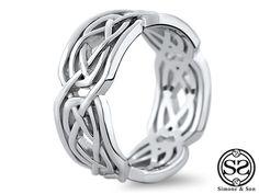 Custom Celtic Men's Wedding Band | Simoneandson.com