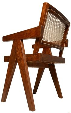 Desk and Chair for Chandigarh by Pierre Jeanneret | From a unique collection of antique and modern armchairs at https://www.1stdibs.com/furniture/seating/armchairs/