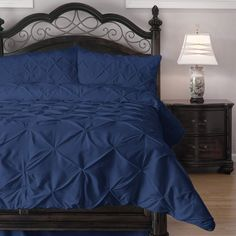 ⚜️ Add charm to your home with ExceptionalSheets California King Size Comforter Set - 3 Piece Down Alternative Comforters - Decorative Pinch Pleat Pintuck Design - Wrinkle Resistant Microfiber Bed Set - Black from Queen Size Comforter Sets, King Size Comforters, Queen Comforter Sets, Black Comforter, Grey Bedding, Luxury Bedding, Twin Comforter, Orange Comforter, Dorm Bedding