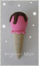Ice Cream Cone Amigurumi - FREE Crochet Pattern / Tutorial