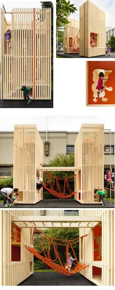 #Arquitectura del #juego o como divertirse de verdad proyectando. Feliz Juernes!!Office Of Mcfarlane Biggar Architects + Designers CHILDREN PLAYHOUSE SAM + PAM © Photo Latreille Delage