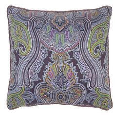 Etro Bundi Cord-Trimmed Pillow ($154) ❤ liked on Polyvore featuring home, home decor, throw pillows, gifts - decorative home, etro, cotton throw pillows and paisley throw pillows