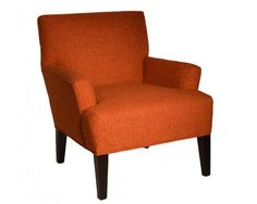 Contemporary Accent Chair In Orange   Sam Levitz Furniture