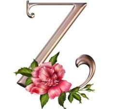 C Bronze W Pink Rose Alphabet