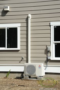 The super energy efficient ductless heat pump (DHP) heats and cools the whole house!