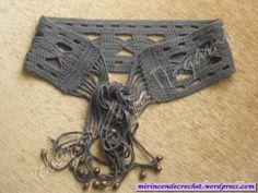 This time an accessory . Crochet Belt, Crochet Skirts, Crochet Purses, Crochet Clothes, Crochet Stitches, Crochet Bikini, Knit Crochet, Crochet Hair Accessories, Crochet Hair Styles