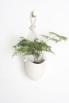 Ceramic + Cotton Rope Planter