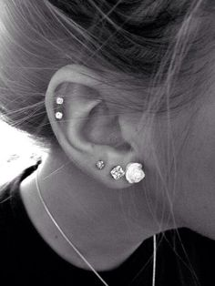 I already have the three bottom I really want the two cartlige pierces