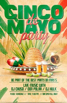 Cinco de Mayo Party Flyer Poster Template…