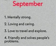 September Birth Month Personality, Mentally Strong, Sayings, Lyrics, Quotations, Idioms, Quote, Proverbs