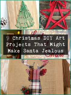 That's right… these Christmas DIY art projects are so awesome (and easy) you might just make Santa jealous of your gorgeous holiday décor when he slides down your chimney on Christmas Eve.