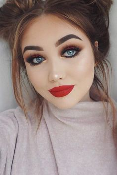 49 Best Red Dress Makeup Images Red Dress Makeup Hair Make Up