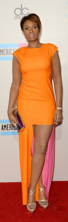 Jennifer Hudson went bold in a Christian Dior dress.